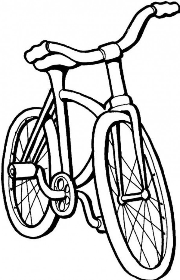 dessin à colorier bicyclette imprimer