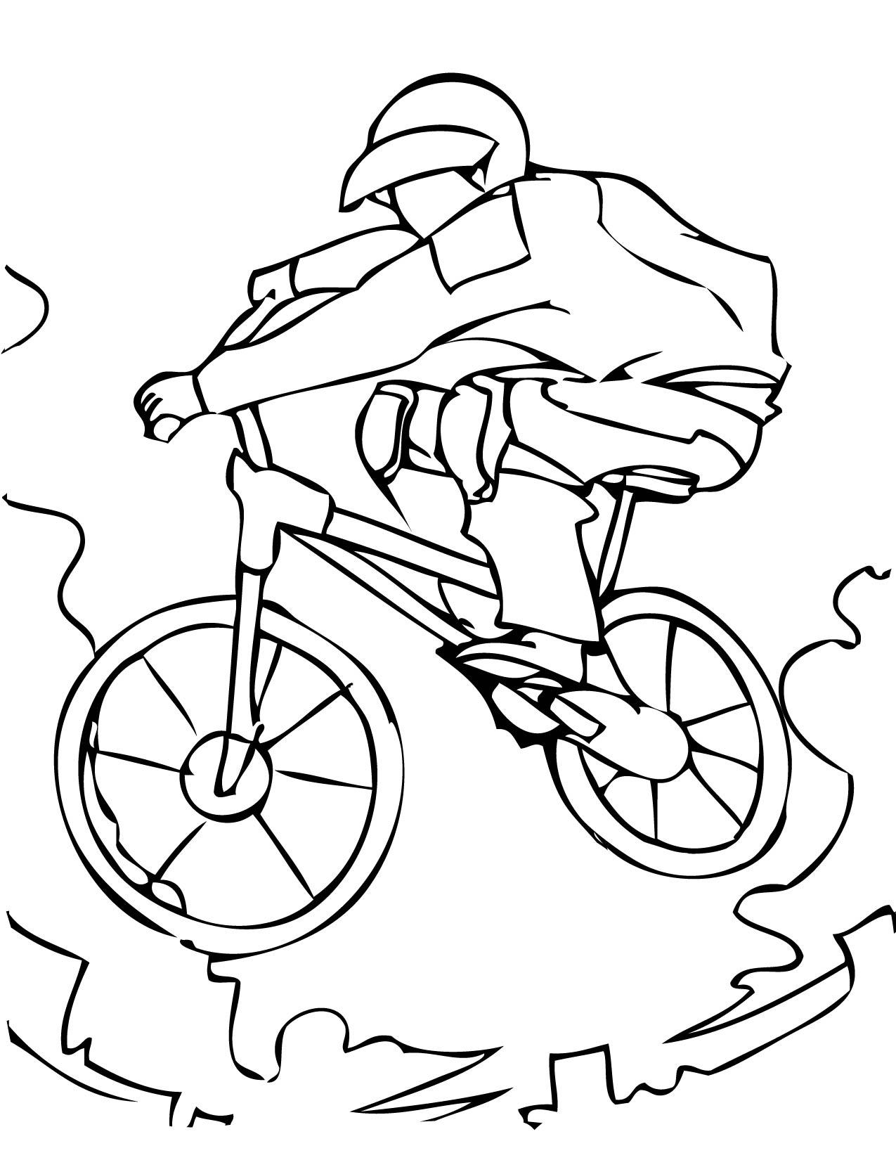 coloriage à dessiner bicyclette imprimer