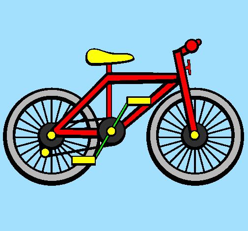 dessin à colorier bicyclette