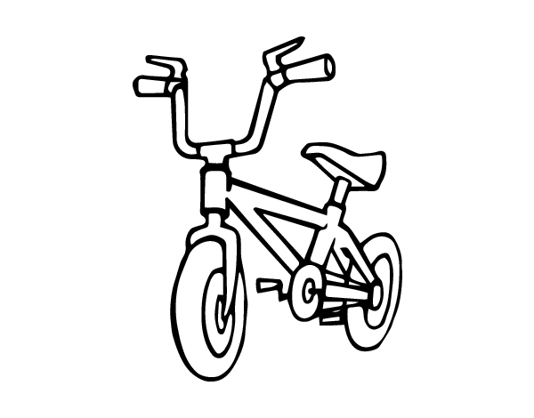 Coloriage velo bmx - Dessin bicyclette ...
