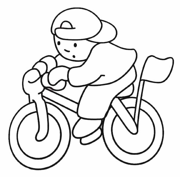 coloriage à dessiner bicyclette en ligne