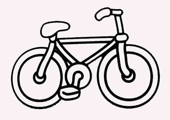 coloriage bicyclette imprimer