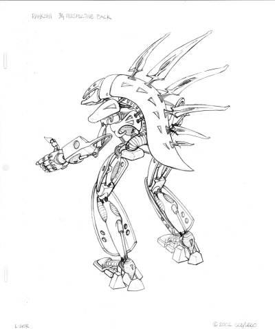 coloriage bionicle à imprimer