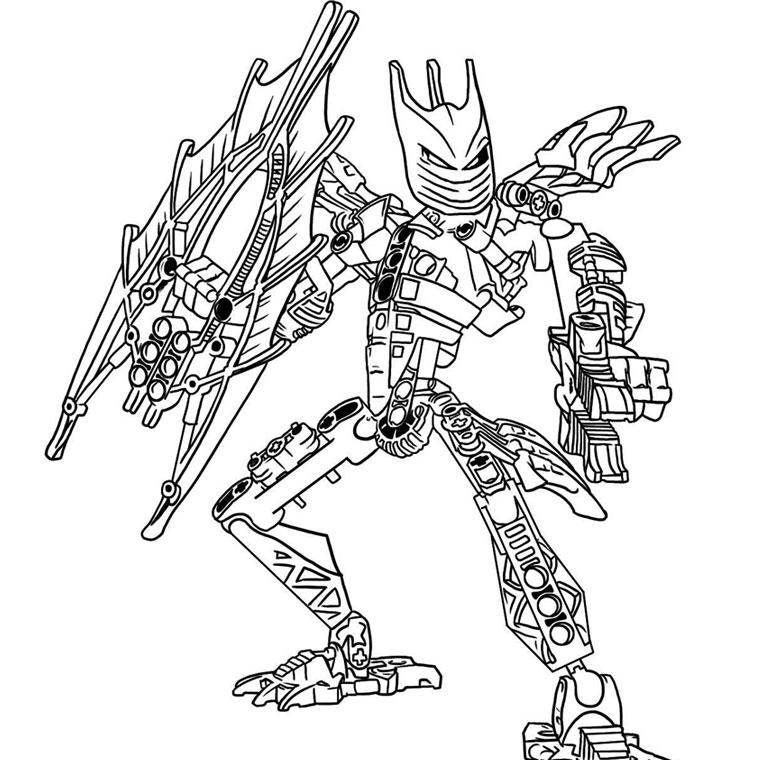 dessin bionicle à imprimer