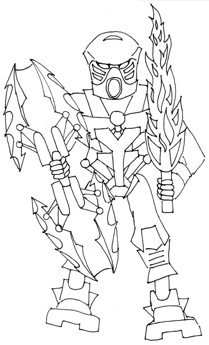 54 Dessins De Coloriage Bionicle 224 Imprimer