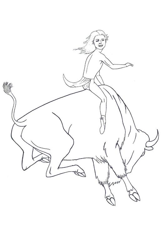 dessin � colorier � imprimer bison