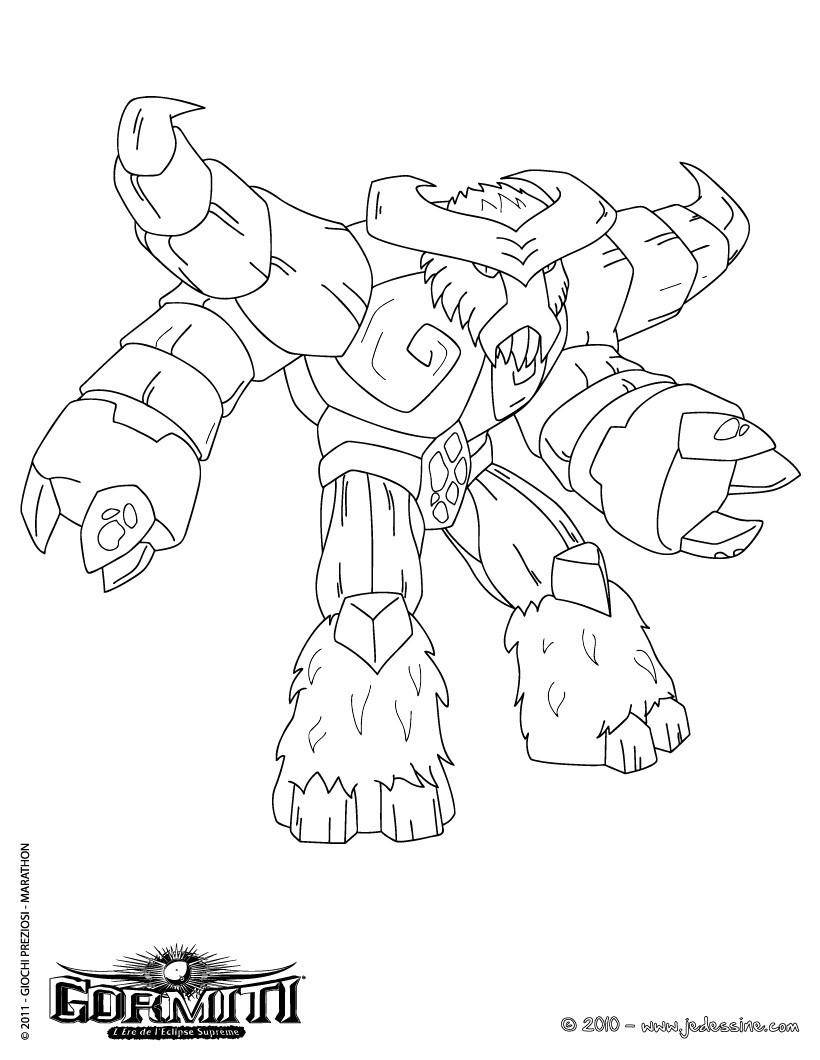 dessin à colorier bison imprimer