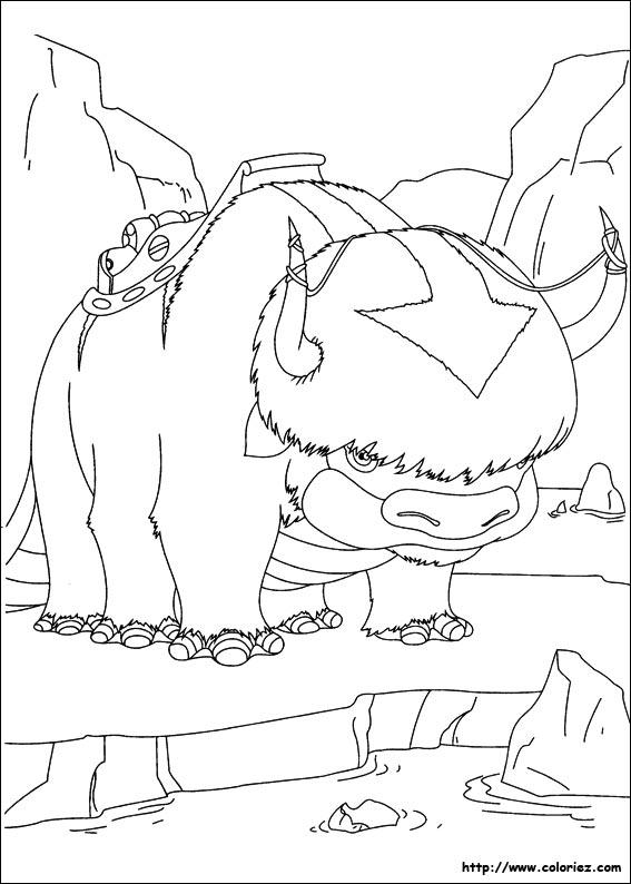 dessin � colorier bison a imprimer gratuit