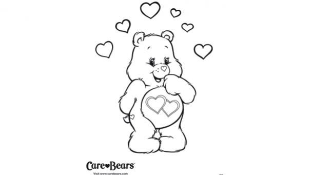 7 dessins de coloriage bisounours gratuit imprimer - Dessin coeur a imprimer gratuit ...