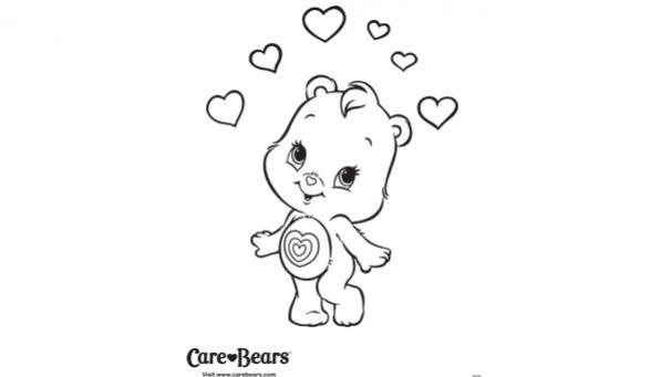 10 dessins de coloriage bisounours tout curieux imprimer - Dessin de bisounours ...