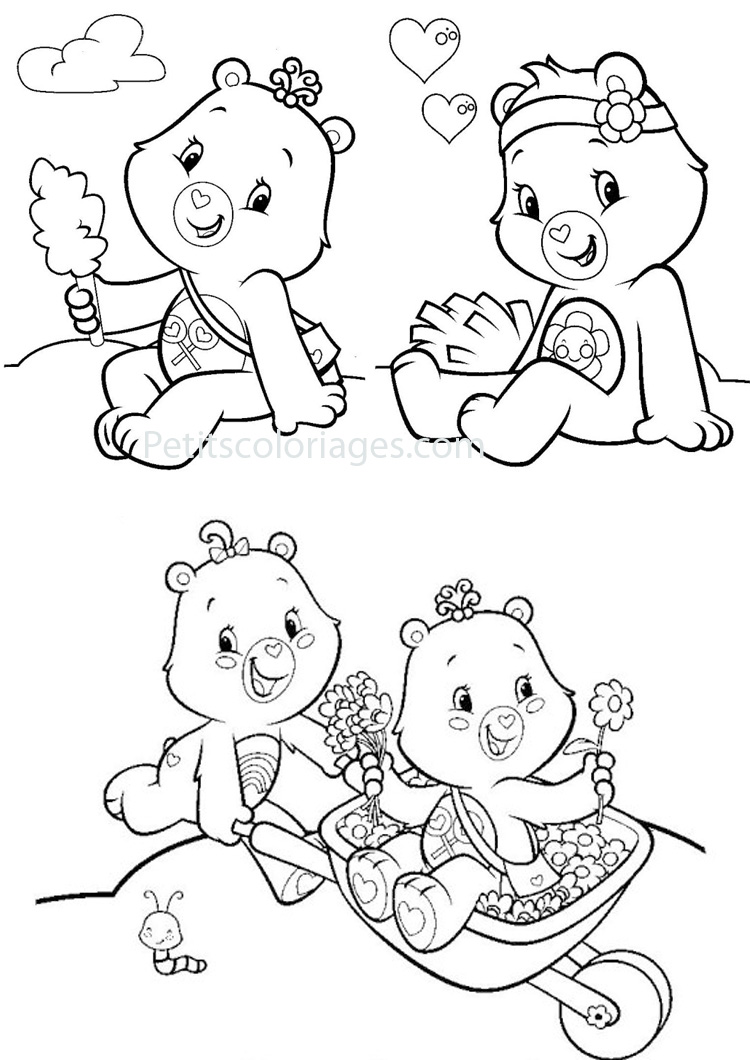 coloriage ƒ dessiner bisounours noel