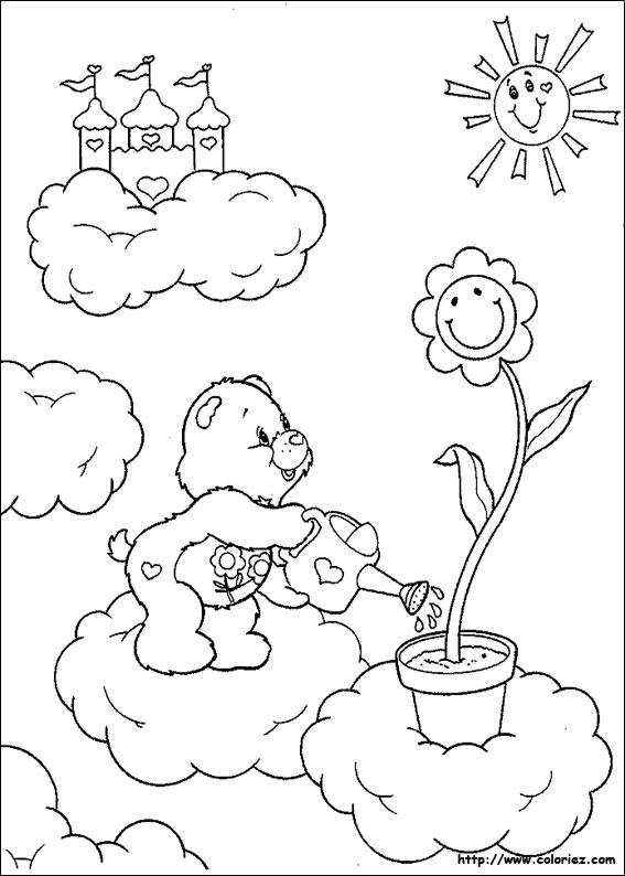 dessin a imprimer bisounours gratuit