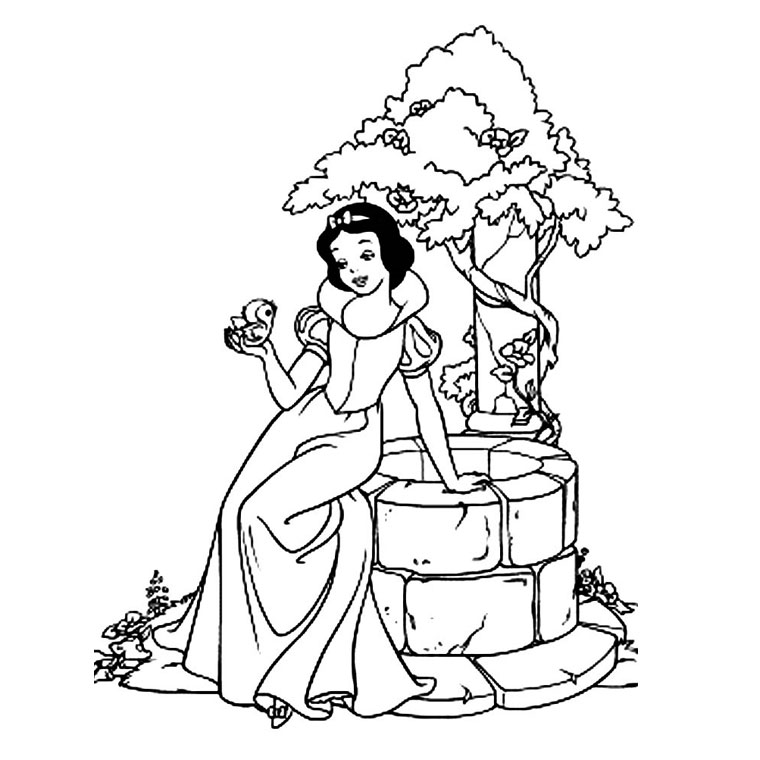 coloriage blanche neige sept nains imprimer