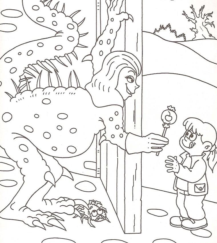 dessin à colorier de bonbon a imprimer gratuit