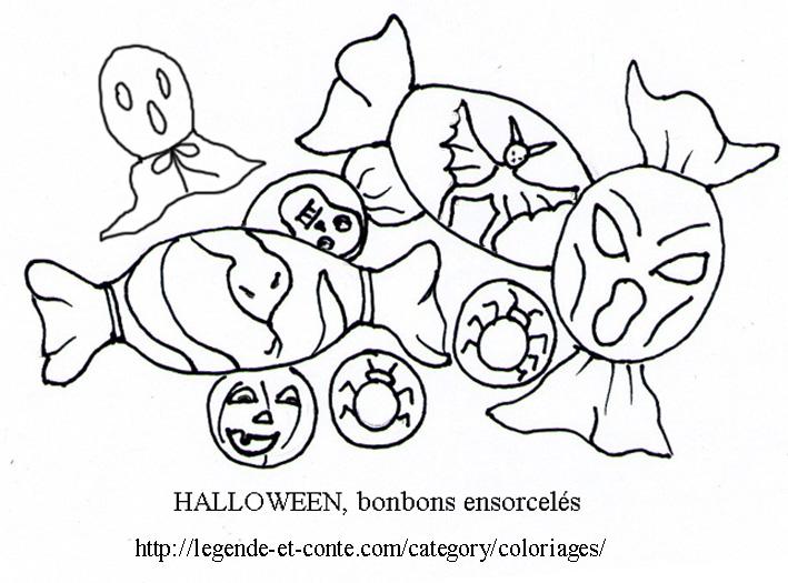 dessin à colorier bonbon