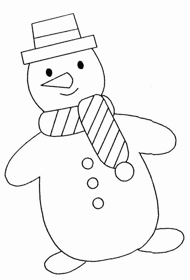 coloriage bonhomme de neige à imprimer