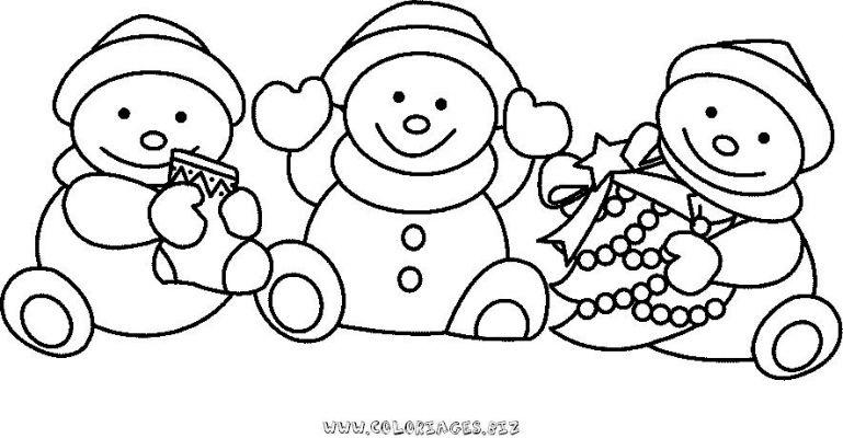 coloriage magique bonhomme de neige maternelle