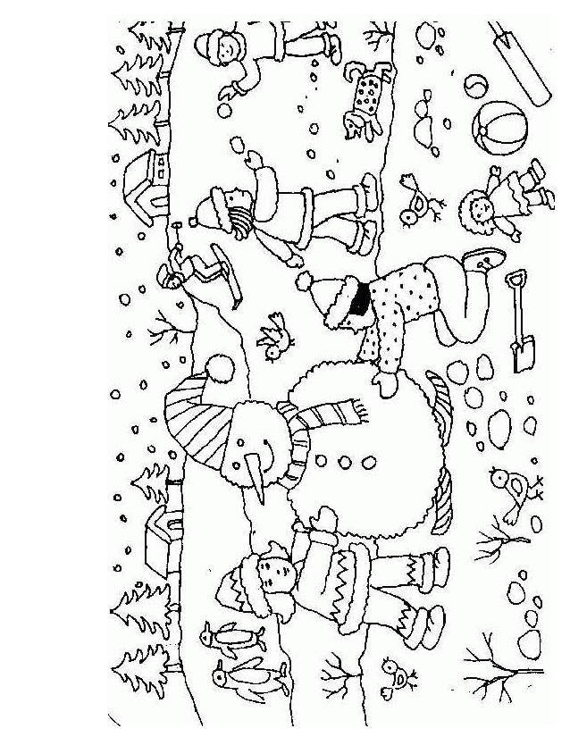 coloriage à dessiner d'un bonhomme de neige a imprimer