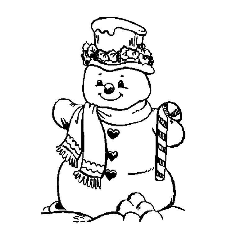coloriage à dessiner de bonhomme de neige en ligne