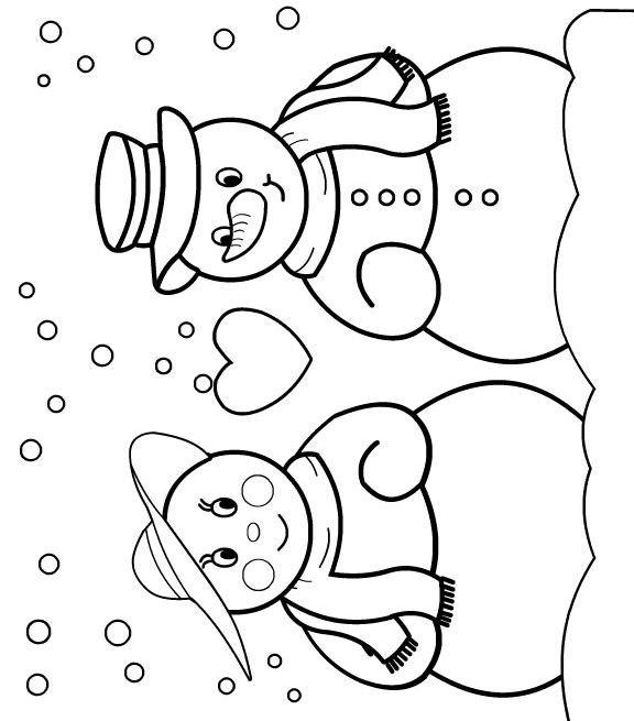 coloriage bonhomme de neige noel