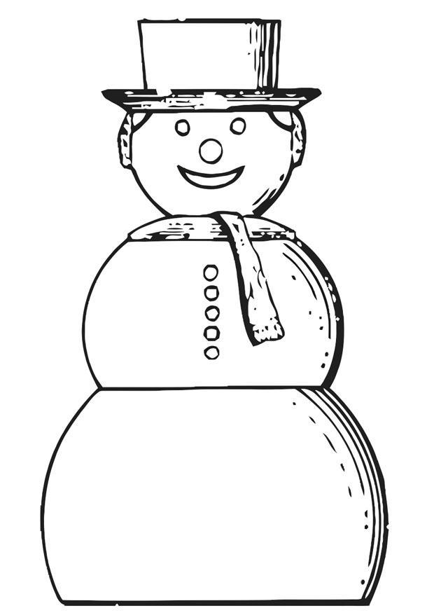 coloriage à dessiner bonhomme de neige facile
