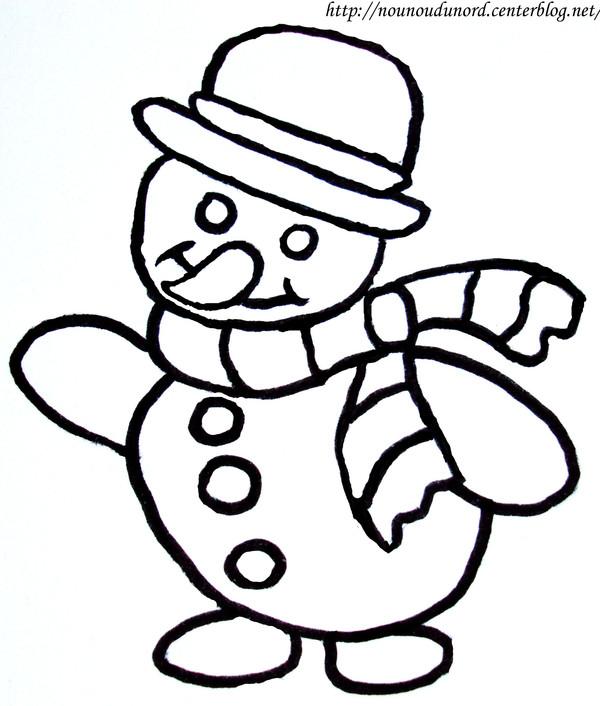 Coloriage magique bonhomme de neige maternelle - Coloriage de bonhomme ...