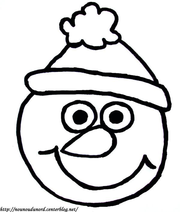 vrac coloriage bonhomme de neige