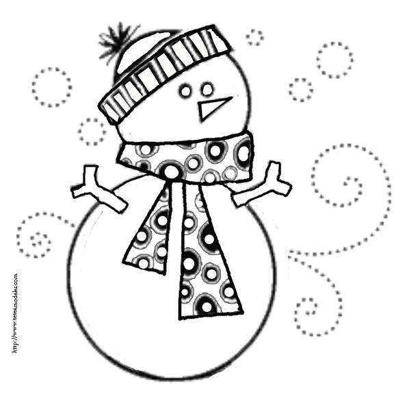 dessin bonhomme de neige olaf