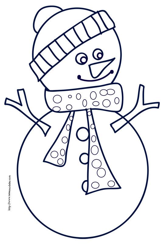 dessin à colorier de bonhomme de neige en ligne