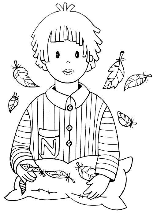 dessin à colorier bonne nuit les petit