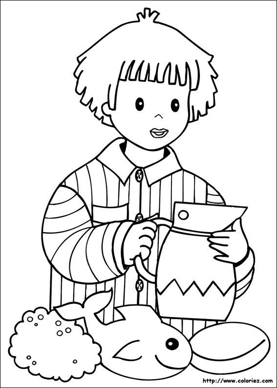 coloriage à dessiner de bonne nuit les petit