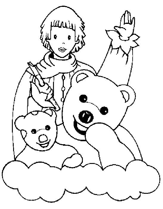 dessin à colorier de bonne nuit les petit