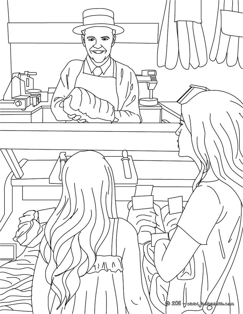 coloriage à dessiner boucher a imprimer