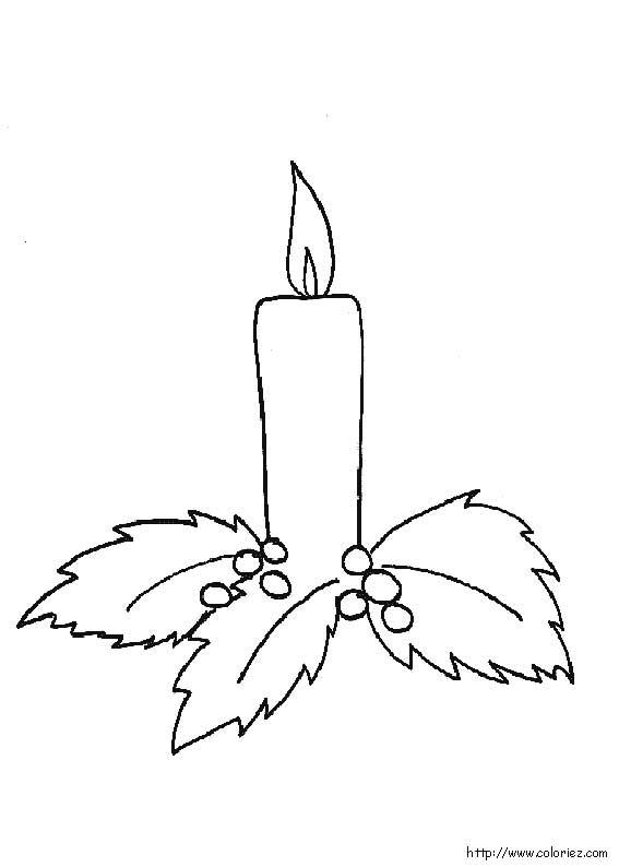 dessin à colorier 4 bougies de l'avent