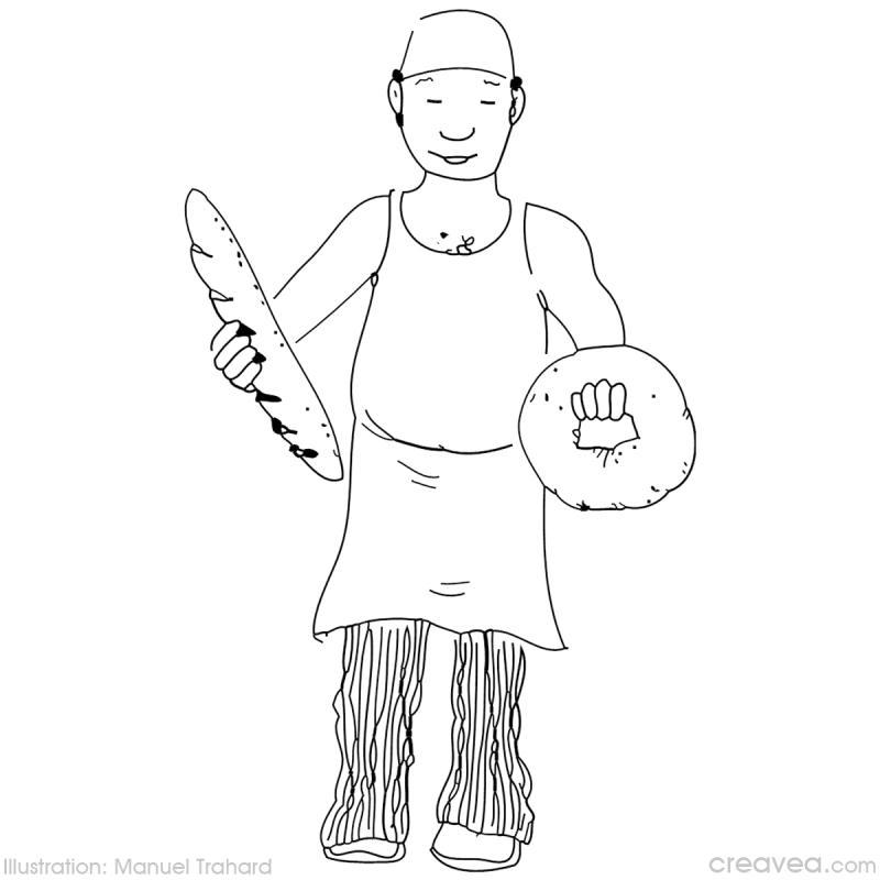 dessin à colorier boulangerie maternelle