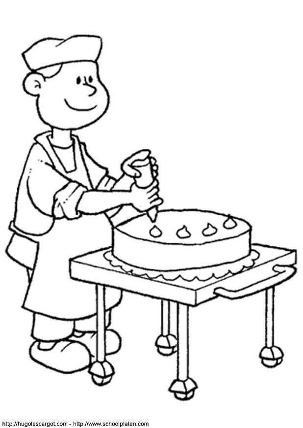 dessin d'une boulangerie