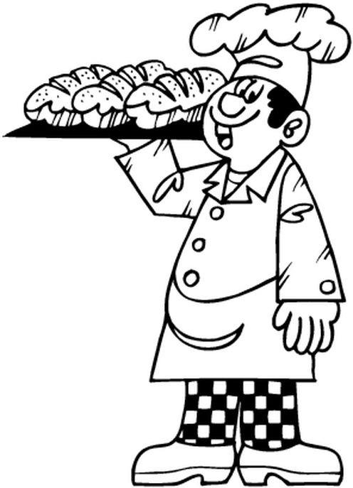 dessin à colorier a imprimer boulanger