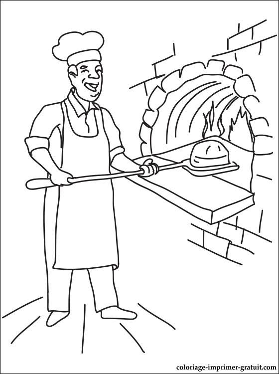 coloriage boulangerie patisserie