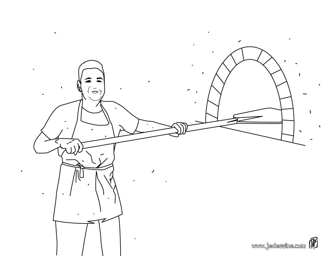 dessin à colorier magique boulangerie
