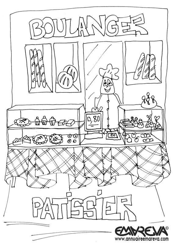 17 dessins de coloriage boulangerie maternelle imprimer - Coloriage boulangerie ...