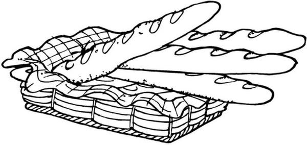 Patisserie dessin noir et blanc - Coloriage boulangerie ...