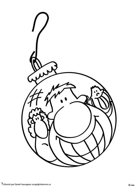 coloriage à dessiner boule de noel mandala