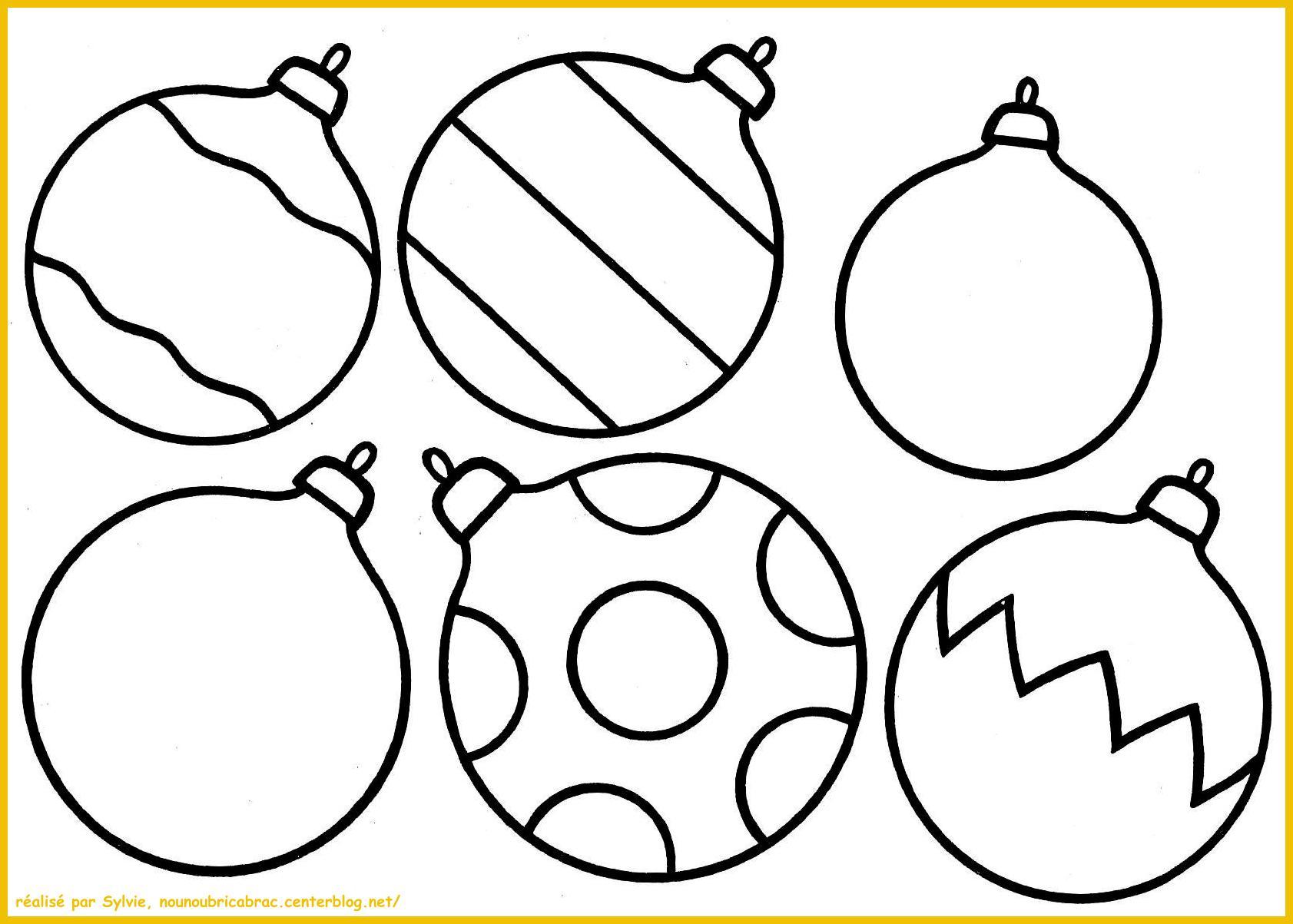 dessin à colorier boule de noel mandala