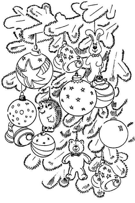 coloriage à dessiner boule de noel maternelle