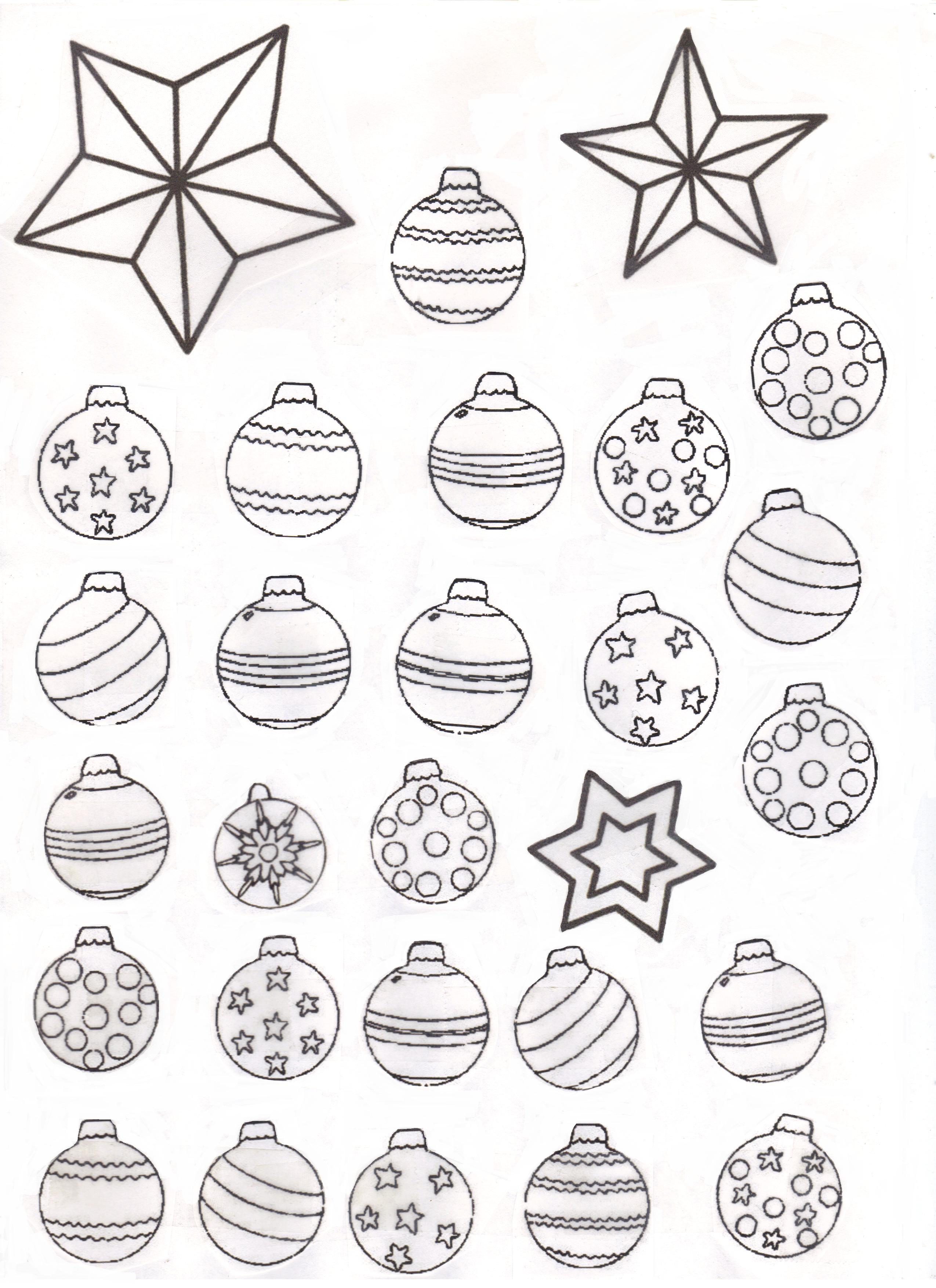 dessin à colorier boule de noel gratuit à imprimer