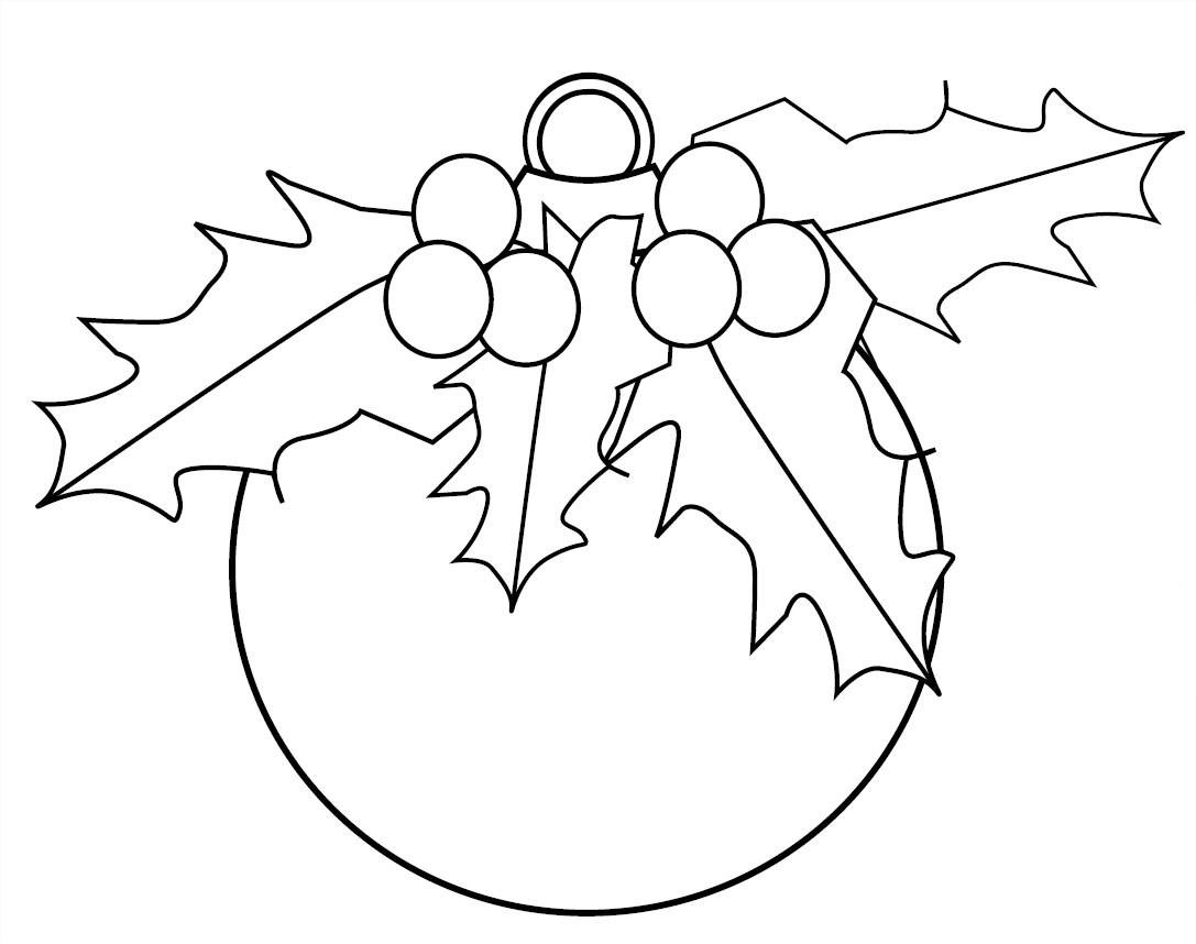 dessin boule de noel recto verso