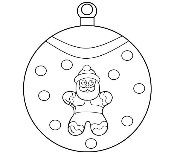 coloriage à dessiners boules de noël à colorier