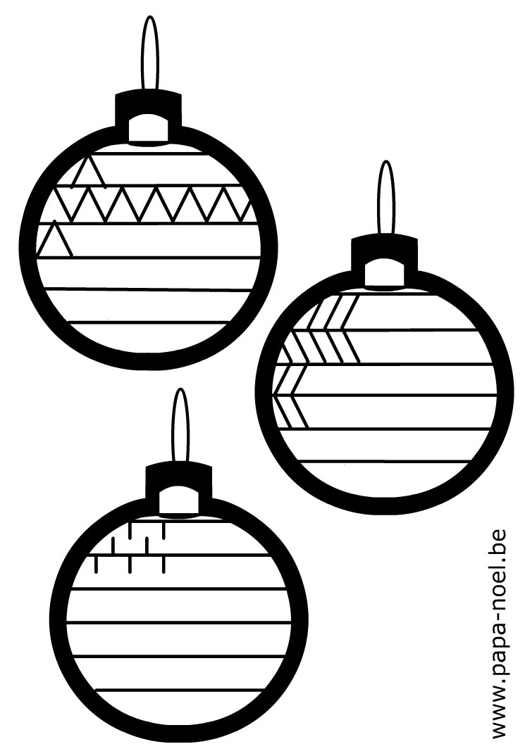 coloriage de boule de noel. Black Bedroom Furniture Sets. Home Design Ideas