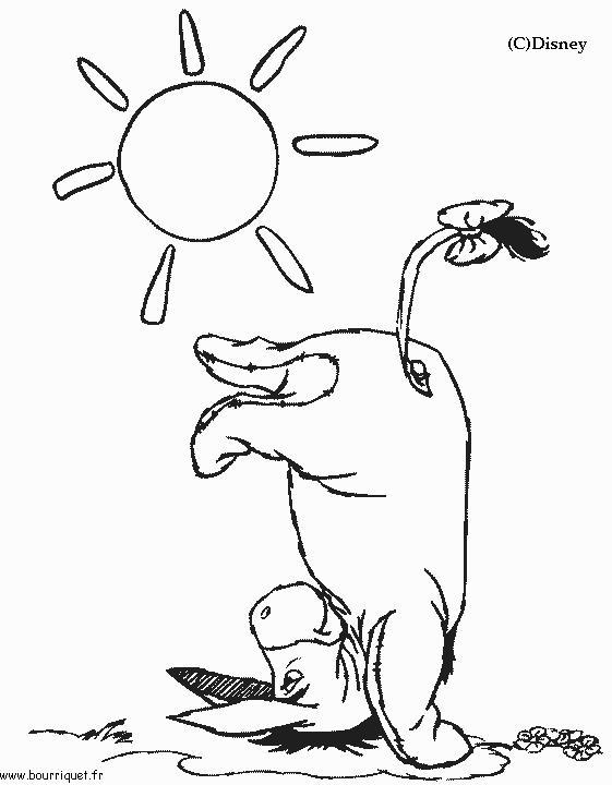 dessin à colorier disney bourriquet a imprimer