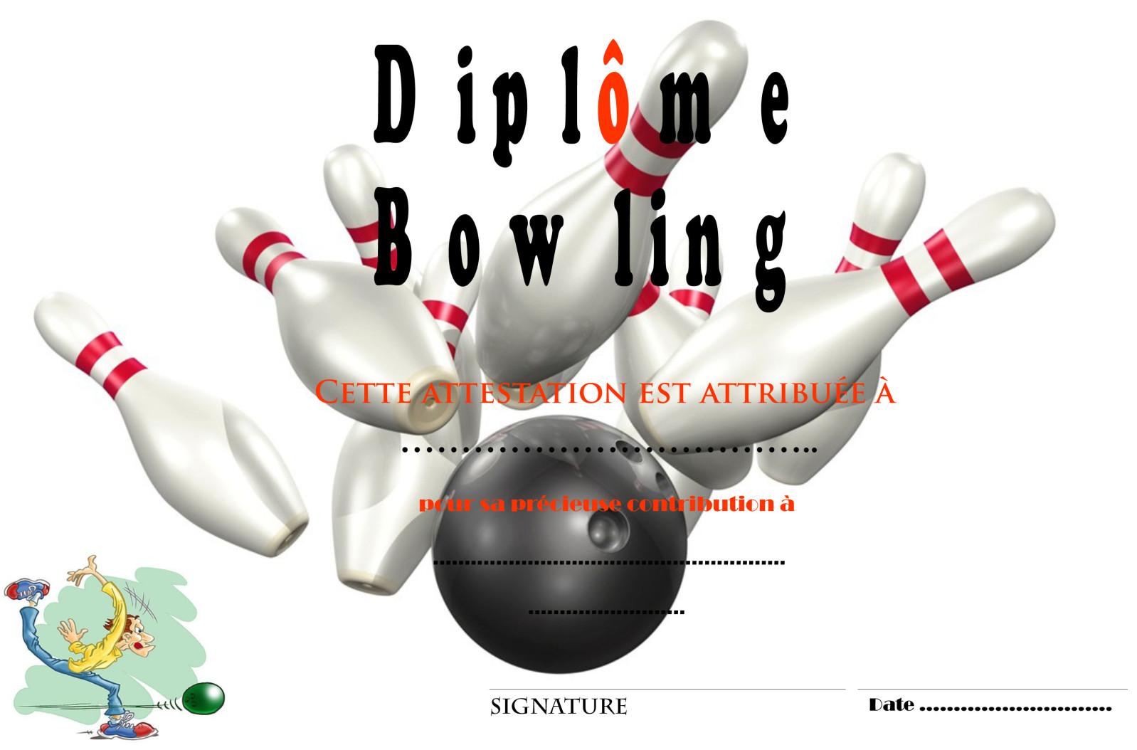 dessin à colorier de bowling